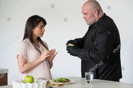 Ginger Gonzaga as Lorena and Ethan Suplee as D