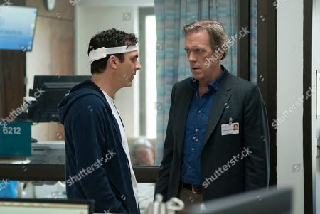 Paul Schneider as Ryan Winter and Hugh Laurie as Eldon Chance