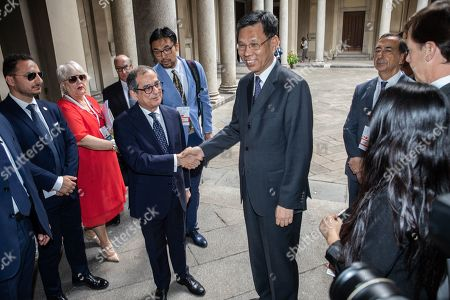 Italian Minister of Economy and Finance Giovanni Tria, Chinese Minister of Finance Liu Kun