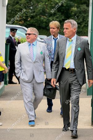 Sir Cliff Richard is pictured arriving at the AELTC for day 9 of the Wimbledon championships.