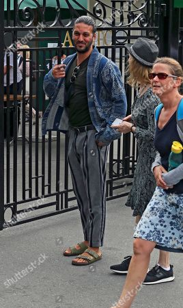 Editorial image of Celebrities arriving at Wimbledon, London, England, 10 July 2019