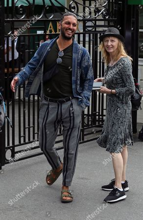 Stock Picture of Actor Shazad Latif is pictured arriving at the AELTC for day 9 of the Wimbledon championships.