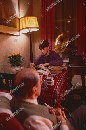 Arthur Whybrow, as Johnny's Grandad, and Andrew Falvey, as Johnny Maxwell.