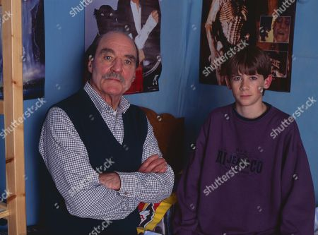 Stock Picture of Arthur Whybrow, as Johnny's Grandad, and Andrew Falvey, as Johnny Maxwell.