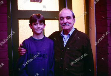 Stock Image of Andrew Falvey, as Johnny Maxwell, and Arthur Whybrow, as Johnny's Grandad.