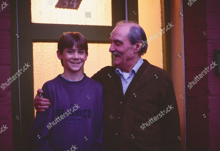 Andrew Falvey, as Johnny Maxwell, and Arthur Whybrow, as Johnny's Grandad.