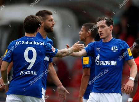 Oberhausen, Germany, pre season friendly,  RW Oberhausen - FC Schalke 04 1-307. 07. 2019 Niederrhein stadium in Oberhausen Benito RAMAN (S04) - and Sebastian Rudy (S04) -