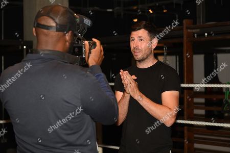 Darren Barker during a Media Workout at 12x3 Gym on 10th July 2019