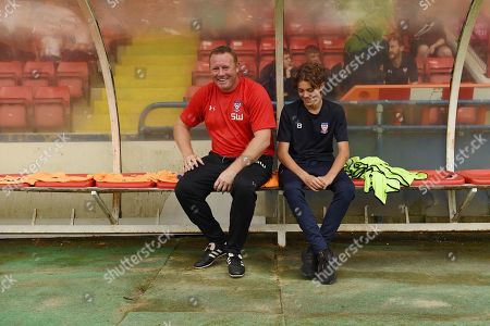 Steve Watson manager of York City and son.