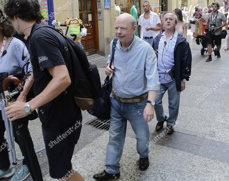 US actor Wally Shawn attends the beginning of the Woody Allen latest film's shooting in San Sebastian, Spain, 10 July 2019. US director Woody Allen will begin sooting his latest work from 10 July until 23 August in San Sebastian.
