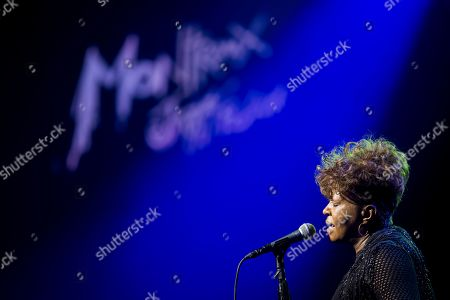 Anita Baker, soul and jazz singer from the United States performs on the stage of the Auditorium Stravinski during the 53rd Montreux Jazz Festival, in Montreux, Switzerland, 10 July 2019. The event running from 28 June to 13 July will feature about 450 concerts.