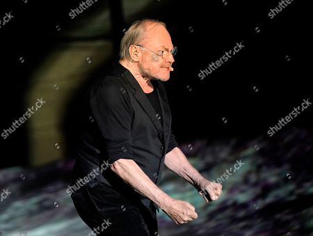 Klaus Maria Brandauer as Hagen performs on stage during a photo rehearsal of 'Ueberwaeltigung' (lit. overpowering) for the Nibelungen Festival Worms, in Worms, Germany, 10 July 2019. The festival features the old Norse and Germanic mythology saga of the 'Nibelungen' about the life and love, treason and tragedy of the Burgundians royal family and their legendary treasure in Worms in the fifth century. This year's the festival is titled 'Ueberwaeltigung' (lit. overpowering) and will be held on an open-air stage in front of Worms Cathedral from 12 to 28 July 2019.