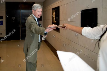 Sen. Sheldon Whitehouse, D-R.I., arrives for a closed door meeting for Senators on election security on Capitol Hill in Washington