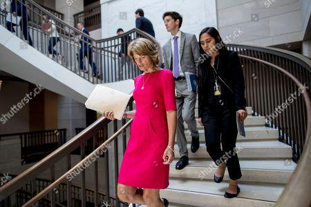 Sen. Lisa Murkowski, R-Alaska, arrives for a closed door meeting for Senators on election security on Capitol Hill in Washington