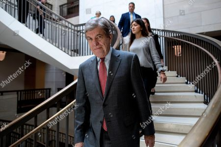 Sen. Roy Blunt, R-Mo., arrives for a closed door meeting for Senators on election security on Capitol Hill in Washington