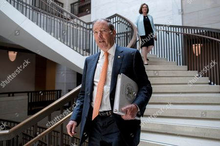 Sen. Tom Udall, D-N.M., arrives for a closed door meeting for Senators on election security on Capitol Hill in Washington