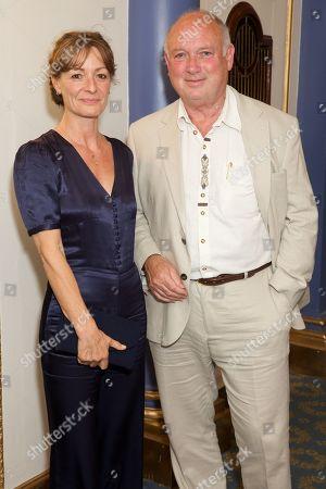 Louis de Bernieres & Ali (girlfriend)