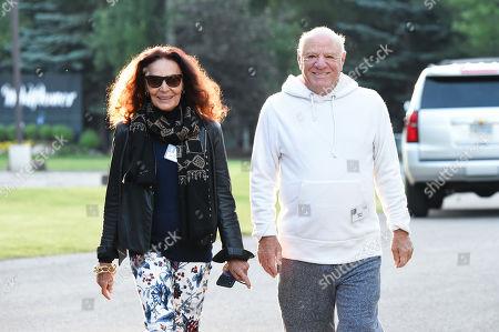 Stock Photo of Diane von Furstenberg and Barry Diller