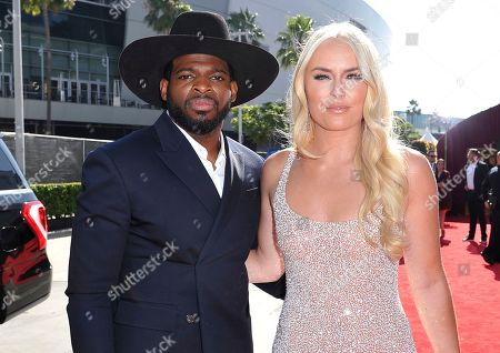 P. K. Subban, Lindsey Vonn. NHL player P. K. Subban of the New Jersey Devils, left, and Lindsey Vonn arrive at the ESPY Awards, at the Microsoft Theater in Los Angeles