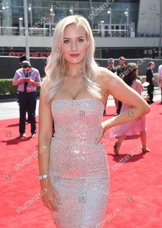 Stock Image of Paige Spiranac arrives at the ESPY Awards, at the Microsoft Theater in Los Angeles