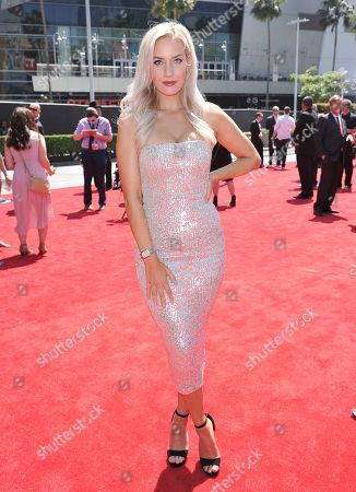Paige Spiranac arrives at the ESPY Awards, at the Microsoft Theater in Los Angeles
