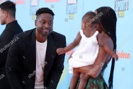 Dwyane Wade, Kaavia James Union Wade and Gabrielle Union