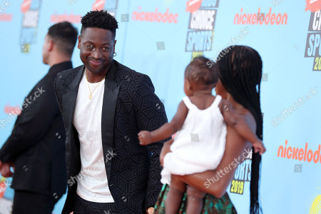 Stock Image of Dwyane Wade, Kaavia James Union Wade and Gabrielle Union