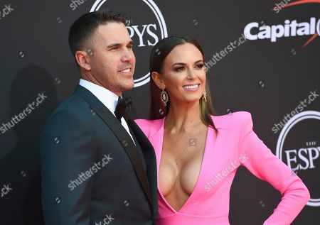 Stock Picture of Brooks Koepka, Jena Sims. Professional golfer Brooks Koepka, left, and Jena Sims arrive at the ESPY Awards, at the Microsoft Theater in Los Angeles
