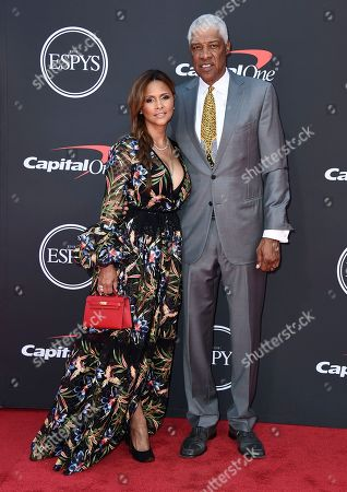 Julius Erving, Dorys Madden. Julius Erving, right, and Dorys Madden arrive at the ESPY Awards, at the Microsoft Theater in Los Angeles