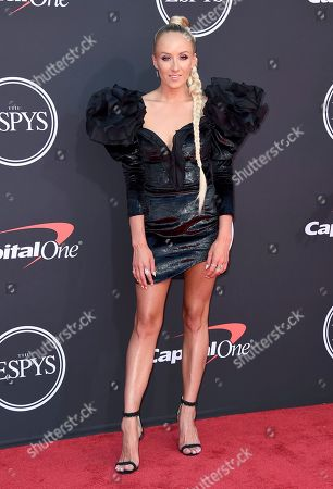Gymnast Nastia Liukin arrives at the ESPY Awards, at the Microsoft Theater in Los Angeles