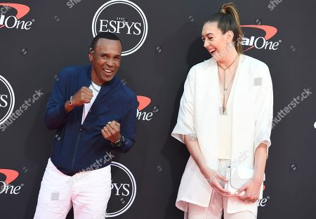 Sugar Ray Leonard, Breanna Stewart. Sugar Ray Leonard, left, and WNBA player Breanna Stewart, of the Seattle Storm, arrive at the ESPY Awards, at the Microsoft Theater in Los Angeles
