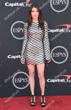 Professional stock car racing driver Julia Landauer arrives at the ESPY Awards, at the Microsoft Theater in Los Angeles