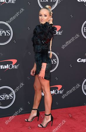 Nastia Liukin arrives at the ESPY Awards, at the Microsoft Theater in Los Angeles