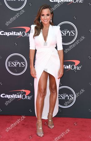 Dianna Russini arrives at the ESPY Awards, at the Microsoft Theater in Los Angeles