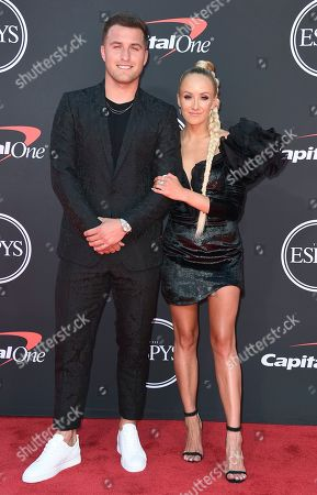Sam Martin, Nastia Liukin. NFL player Sam Martin, of the Detroit Lions, left, and gymnast Nastia Liukin arrive at the ESPY Awards, at the Microsoft Theater in Los Angeles