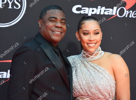 Megan Wollover, Tracy Morgan. Tracy Morgan, left, and Megan Wollover arrive at the ESPY Awards, at the Microsoft Theater in Los Angeles