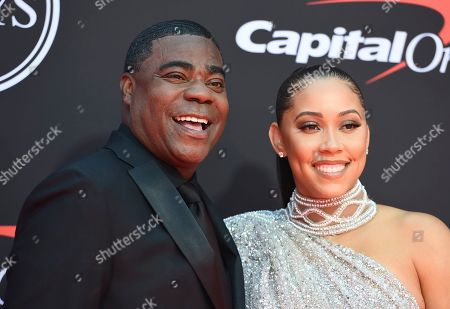 Stock Photo of Megan Wollover, Tracy Morgan. Tracy Morgan, left, and Megan Wollover arrive at the ESPY Awards, at the Microsoft Theater in Los Angeles