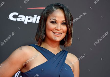 Laila Ali arrives at the ESPY Awards, at the Microsoft Theater in Los Angeles