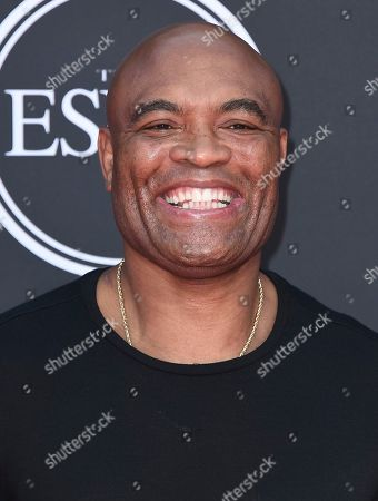 Anderson Silva arrives at the ESPY Awards, at the Microsoft Theater in Los Angeles