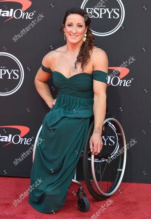 Paralympian marathon runner Tatyana McFadden arrives at the ESPY Awards, at the Microsoft Theater in Los Angeles
