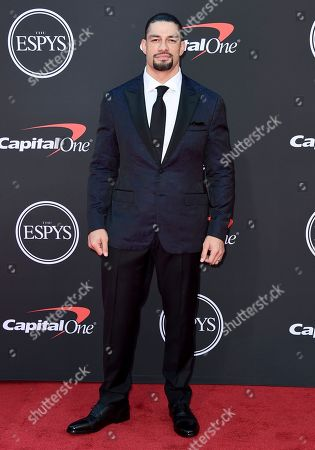 Roman Reigns arrives at the ESPY Awards, at the Microsoft Theater in Los Angeles
