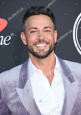 Zachary Levi arrives at the ESPY Awards, at the Microsoft Theater in Los Angeles