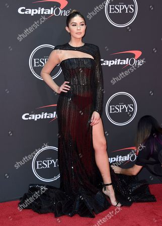 Cathy Kelley arrives at the ESPY Awards, at the Microsoft Theater in Los Angeles