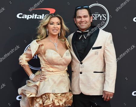Michelle Mangan, Johnny Damon. Johnny Damon, right, and Michelle Mangan arrive at the ESPY Awards, at the Microsoft Theater in Los Angeles