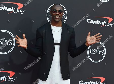 Terrell Owens arrives at the ESPY Awards, at the Microsoft Theater