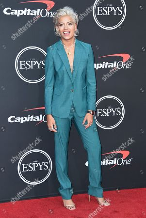 Stock Image of Victoria Brito arrives at the ESPY Awards, at the Microsoft Theater in Los Angeles