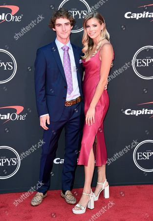 Stock Picture of Tom Schaar, Caroline Sullivan. Tom Schaar, left, and Caroline Sullivan arrive at the ESPY Awards, at the Microsoft Theater in Los Angeles