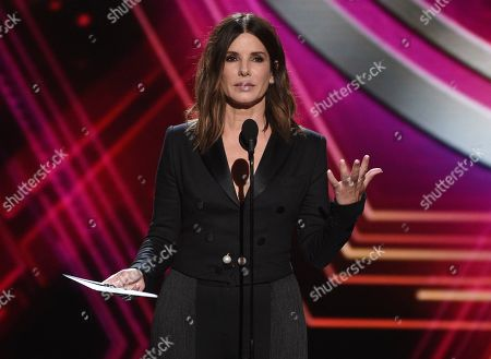 Stock Picture of Sandra Bullock presents the award for best team at the ESPY Awards, at the Microsoft Theater in Los Angeles