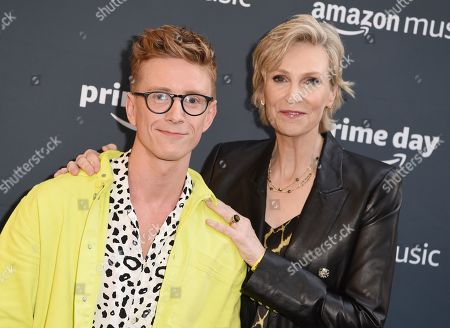 Tyler Oakley and Jane Lynch