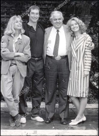 Cast Of The Living Daylights Left To Right Maryan D'abo Timothy Dalton Cubby Broccoli And Caroline Bliss. Pkt1797 - 129125